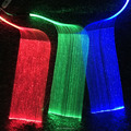 LED fiber optic light up fabric textile with fiber optic lighting