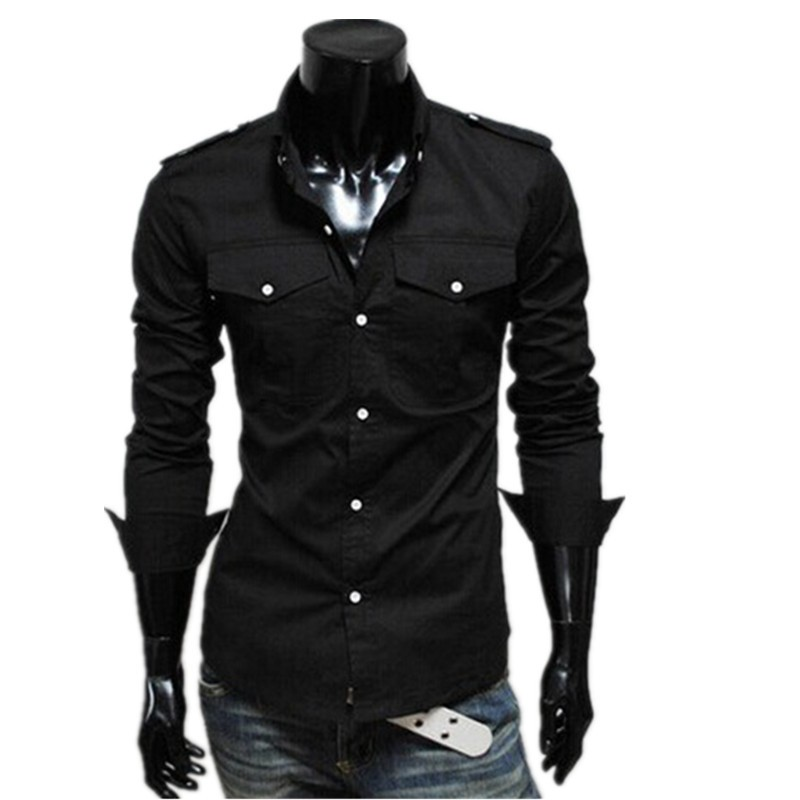 New arrival 3colors choice with badges and double up-pocket men's multi-button wholesale cardigan shirts for men