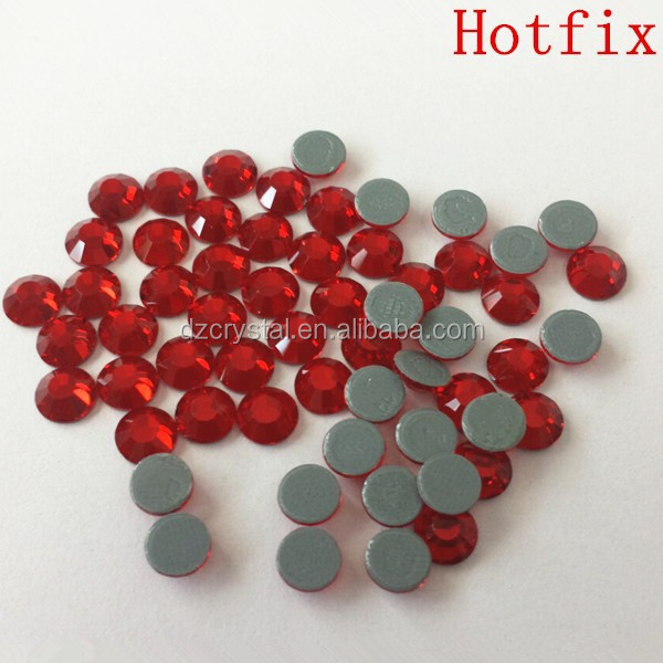 SS20 Light Siam Glass Flatback Hotfix Rhinestones Transfer for Garment