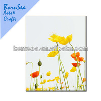 yellow and red flowers canvas prints
