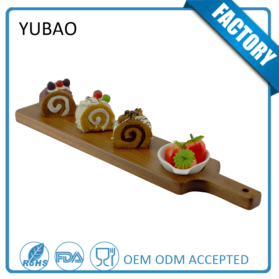 Latest Design Promtional Decorative Disposable Rectangular Wood Plate Wholesale