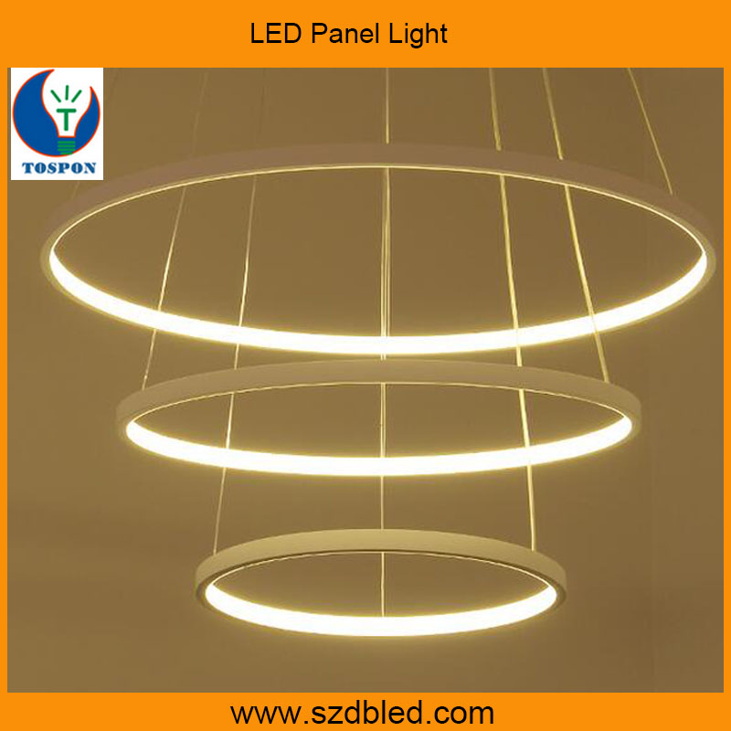 hotel selling circle acrylic cafe ring pendant lighting led ceiling light