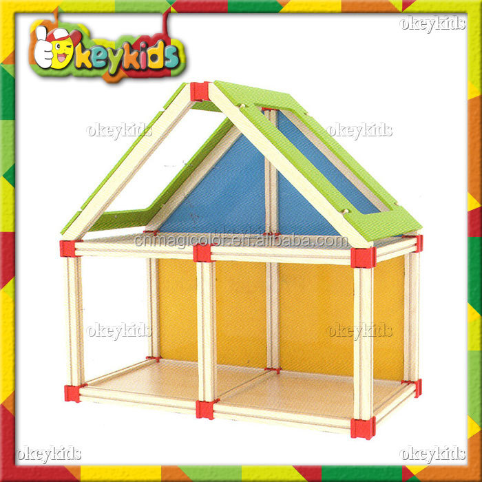 2016 wholesale baby wooden miniature doll house,fashion wooden miniature doll house,hottest wooden miniature doll house W06A109