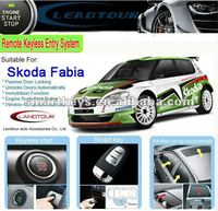 Can bus alarm remote engine start smart key pke rfid for Skoda Fabia push start stop button system