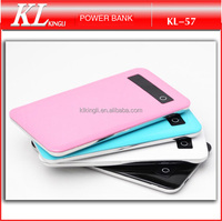 KL57 super slim 5000mah li-polymer portable ultra thin power bank wholesale