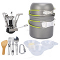 Alibaba outdoor gear camping equipment china cookware set with camping gas stove camping picnic equipment