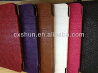 Magnetic Diamond pattern stand leather case for iPad