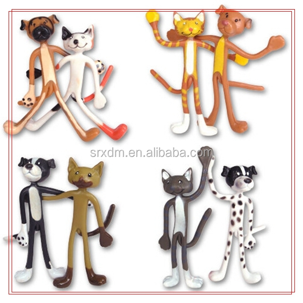 Custom Cat and Dog ZOO animal Bendable Figures/factory price custom your own Bendy Buddies gift toys figure model