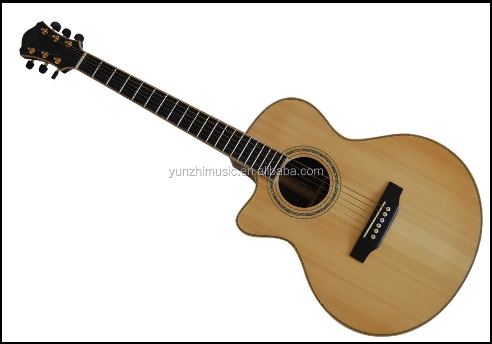 yunzhi handmade left hand solid wood flattop acoustic guitar