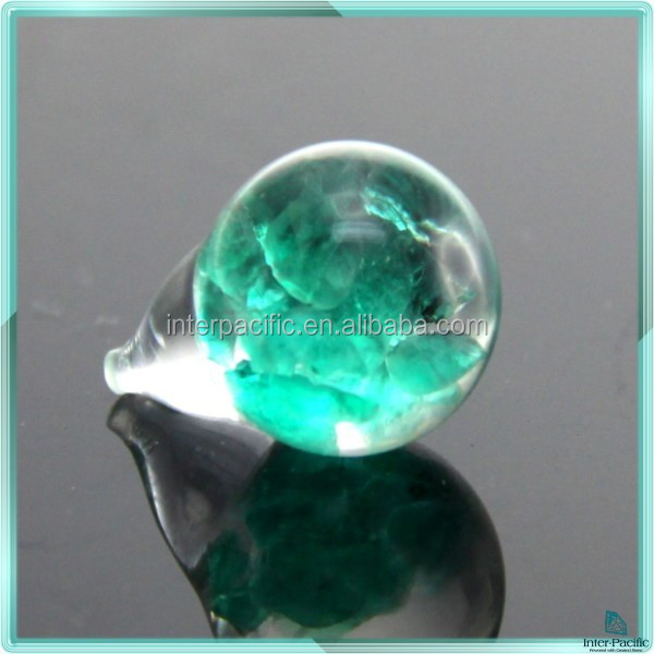 New design floating opal Chips Emerald Rings