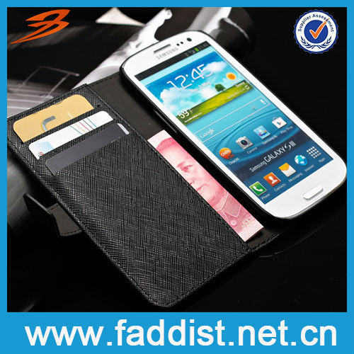 New Product Soft Case for Samsung Galaxy s3 Genuine Leather Case