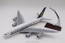 singapore airline 36CM A380 ABS meterial plastic model plane scale 1:200 with stand for display