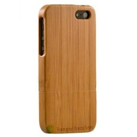 High Quality verious design 100% natural solid bamboo back cover phone case for iPhone 5S