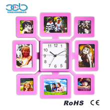 Digital photo frame insert wall clock