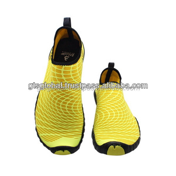 Beach shoes, Water park shoes, Aqua Shoes, Water Sports Shoes, Fitness, Gym, Yoga Shoes, Driving Shoes---Ballop Spider Yellow