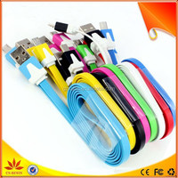 Colorful 5 pin micro usb cable for samsung s4