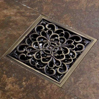 Europe type style restoring ancient ways brass bathroom floor drains /drainer