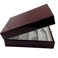 High quality piano lacquer perfume essential oil storing packaging gift wooden box