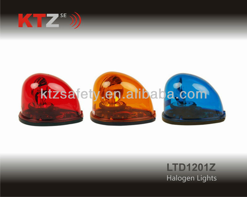 big size blue color cheap Halogen revolving warning lights