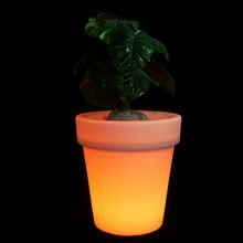 illuminated multicolor change round led flower/planter pot/vase