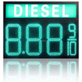 led oil gas displays