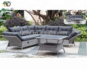 new design rattan furniture wicker outdoor sofa set home garden sofa with adjustable lounge