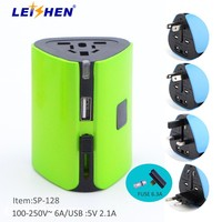 Travel Adapter 2 USB 2 SOCKET EXTENSION SOCKET/SURGE PROTECTOR/Standard Grounding Grounding and Residential / General-Purpose