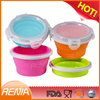 collapsible food container with lid and industrial silicone lunch container with lid