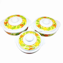 Plastic Melamine round handle bowl with lid