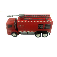 RC Fire Engine Red Alarm Friction Car