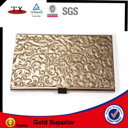 metal golden business id card holder