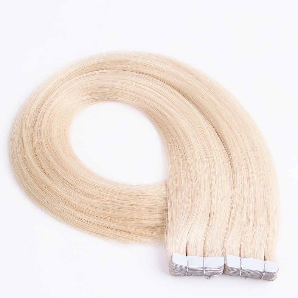 Wholesale 100% Virgin Russian Remy Tape Hair Extensions Double Drawn Tape In Hair Extensions Virgin Human Tape Hair