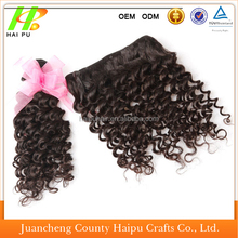 Wholesale top quality Malaysian remy kinky curly human hair weft,kinky curl sew in hair weave