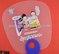 personalized hand held fans, transparent PVC fan, cheap hand held fan in clear plastic