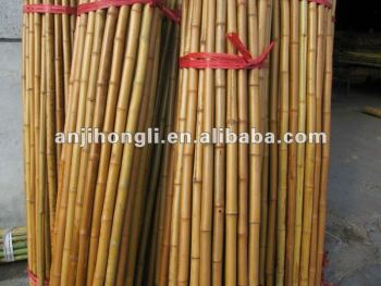 Natural Carbonized Bamboo Pole for home and garden decoration