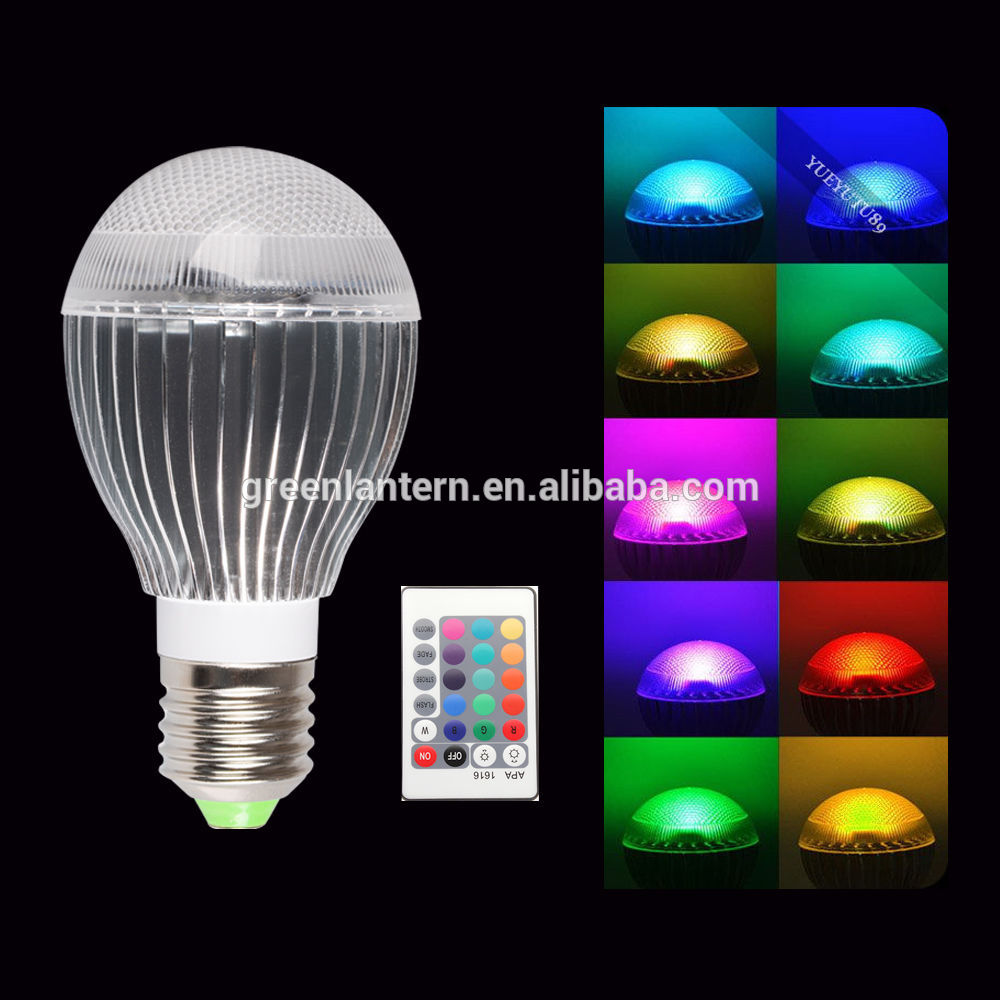 9W E27 color change magic LED RGB Led Bulbs With Wireless Remote