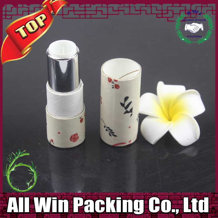 Cute Round Paper Lip Balm Container for Female Fancy lipstick container packaging tube