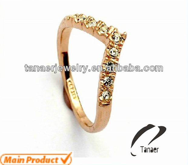 China suppliers wholesale stainless steel ring with zircon rose shaped diamond engagement ring