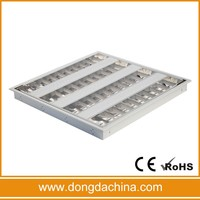 4x14w Fluorescent Lighting fitting T5 recessed grille lighting mounted louver light fixture