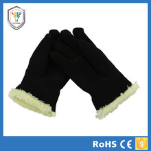 cow leather warm cotton lining snow shovel glove keep out cold