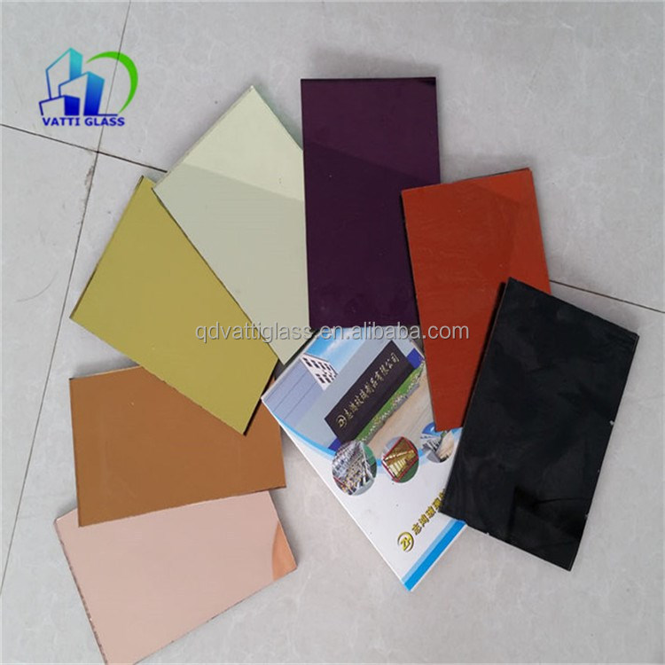 colored aluminum coating large sheet mirror glass bronze blue mirror glass