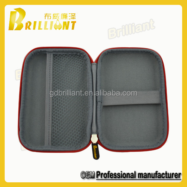PU leather eva grip tools packing case with mesh pocket