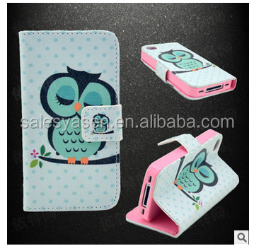 Fashion Flip PU Owl Leather Case For iPhone 6 for i6 plus Cover,Wallet Phone Cases with Stand Function and Card Holder