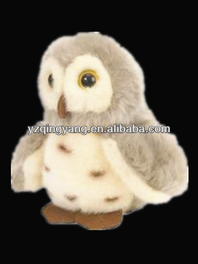 2014 new arrival stuffed animal cute and realistic soft plush white owl toy