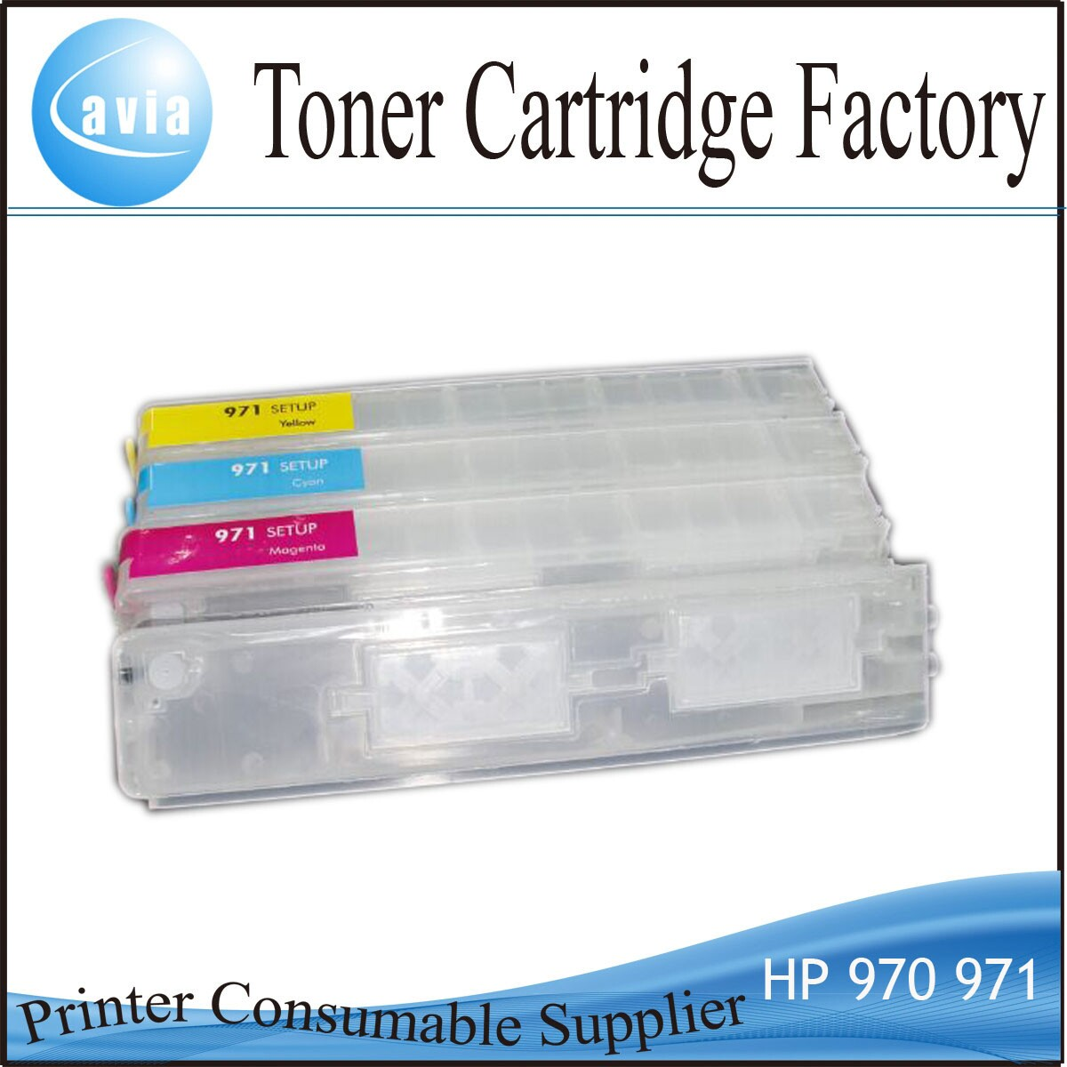 Hot sale Empty refillable cartridge CN621 CN622 CN623 CN624 for HP 970 971
