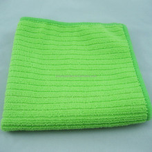 Green 30x30cm 100%Polyester Striped Kitchen Cleaning Cloth