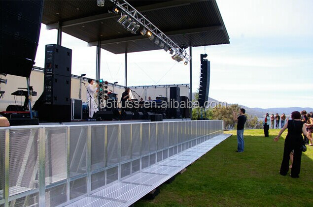 Nine trust TUV certificate concert barrier aluminum mojo crowd control barrier
