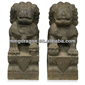 Chinese antique garden stone lion
