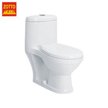 Direct selling round p-trap/s-trap washdown flush water system one piece chinese girl toilet in cheap price