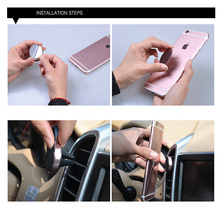 ABS magnetic air vent cell phone holder adapter car mount holders for Smartphones